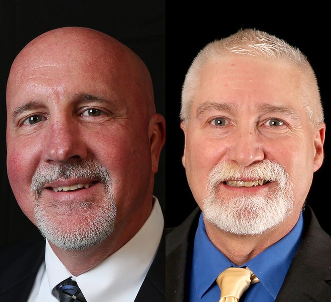 From left, Incumbent Bill Post and challenger Dave McCall.