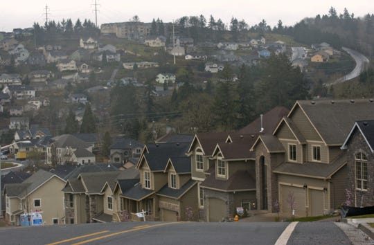 A view of homes in West Salem.