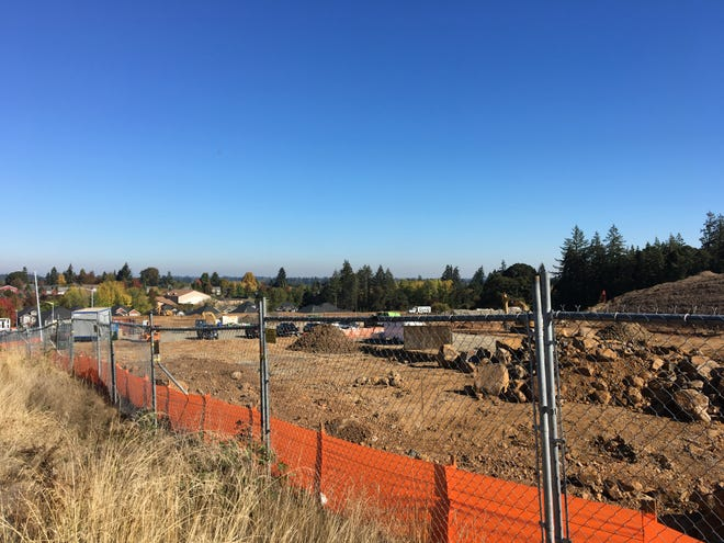 Construction on Linwood St. NW near Orchard Heights Road NW in Salem, Oregon, on Oct. 12, 2018.
