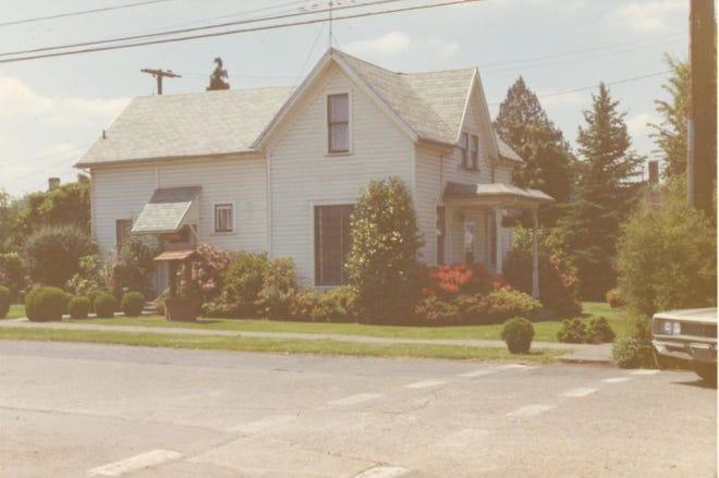 An undated photo of the Saalfeld House in downtown Mt. Angel.