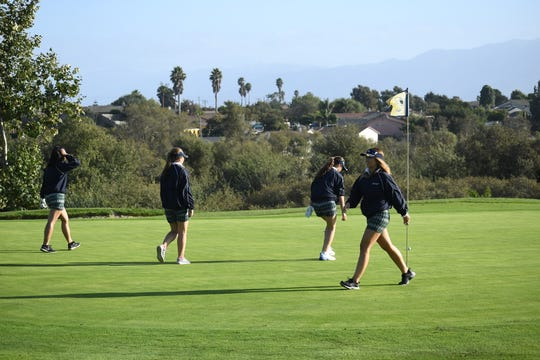 The Notre Dame golf team practices at Twin Creeks Golf Course, home to the First Tee of Monterey County.