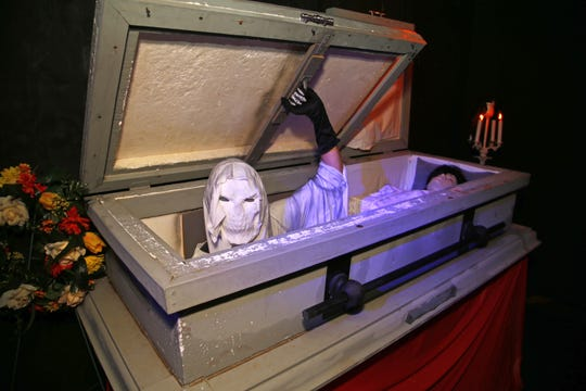 The Crypt at The Crypt Haunted Attractions Sunday, Oct. 19, 2014 in Mesa, Ariz.
