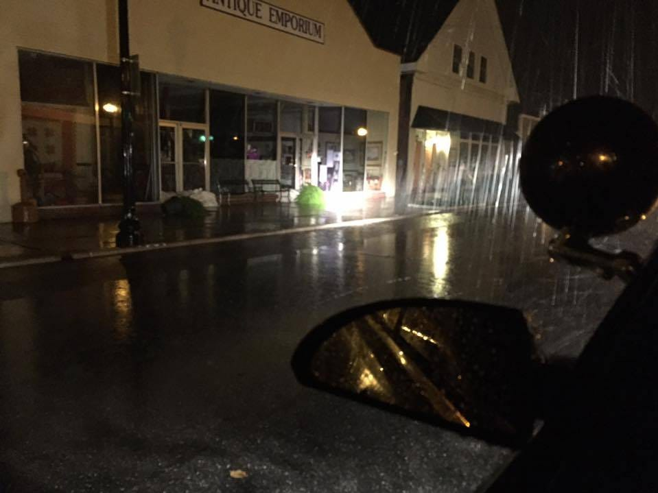 Rain falls in Exmore, Virginia, as Tropical Storm Michael makes its way into Delmarva Thursday night, Oct. 11.