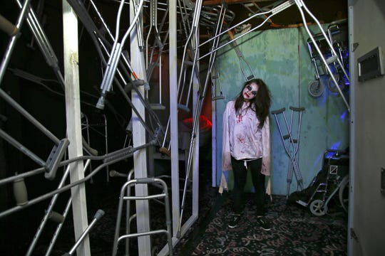 The Asylum at The Crypt Haunted Attractions Sunday, Oct. 19, 2014 in Mesa, Ariz.