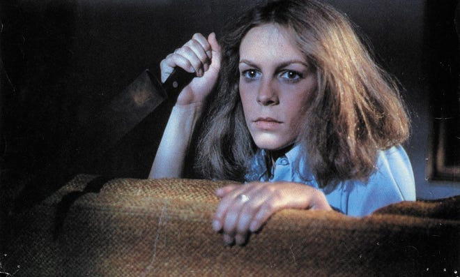 "Jamie Lee Curtis in the original ""Halloween"" movie from 1978"