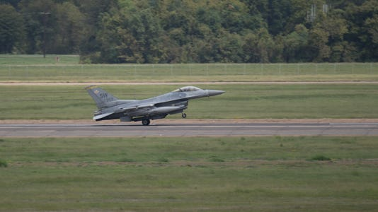 Barksdale Receives F 16s And T 1s For Hurevac