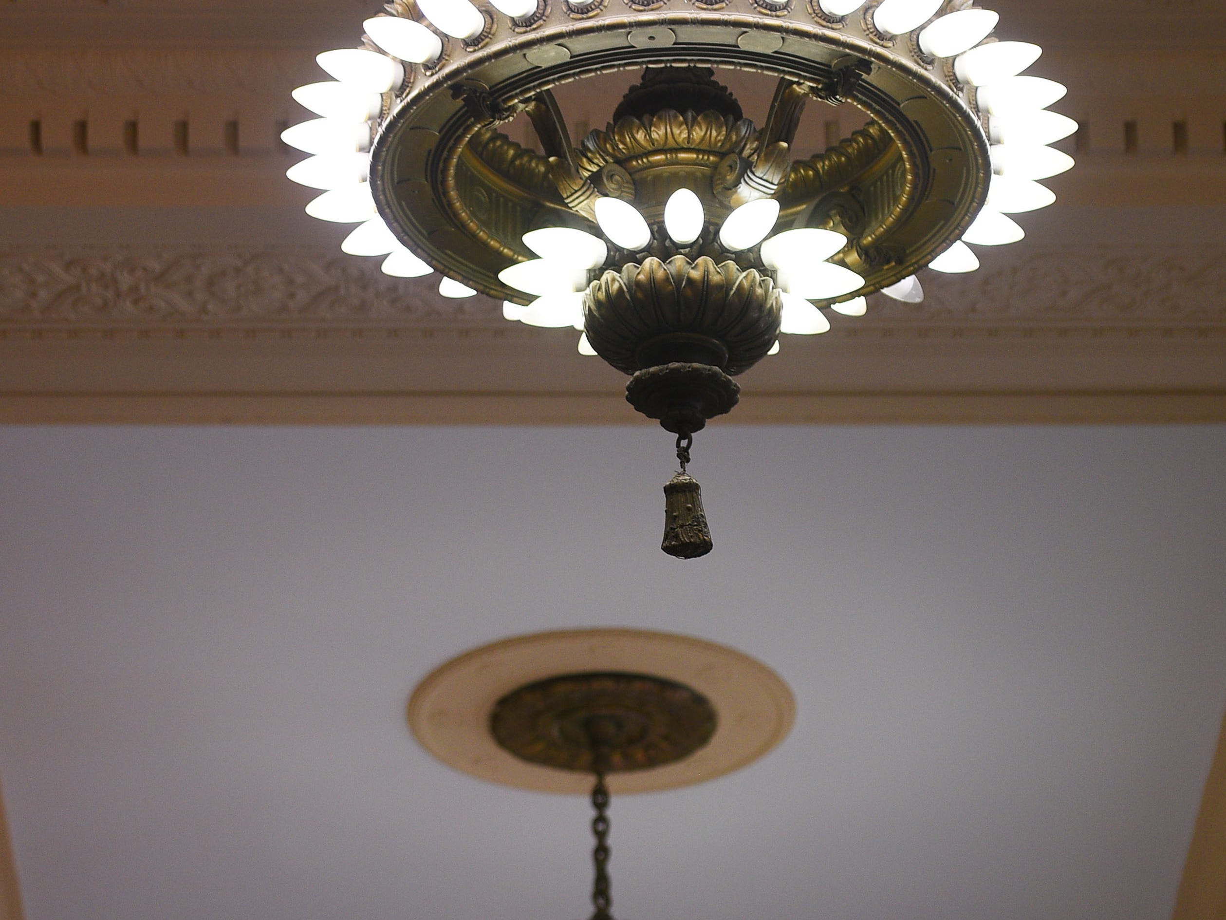 Original fixtures in Hotel Phillips Thursday, Oct. 11, in downtown Sioux Falls. The luxury hotel is an ongoing remodel of the old Great Western building.