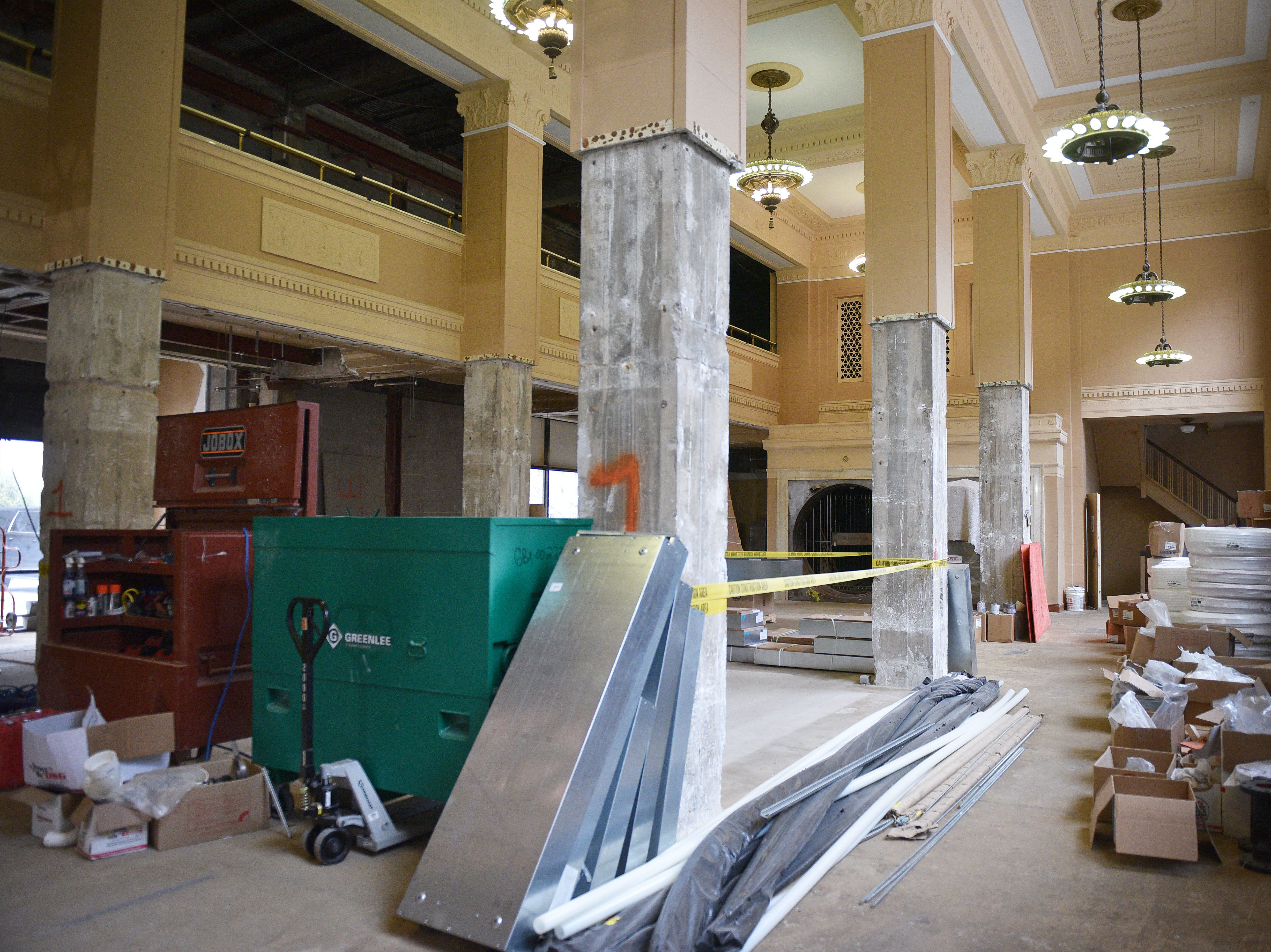Hotel Phillips Thursday, Oct. 11, in downtown Sioux Falls. The luxury hotel is an ongoing remodel of the old Great Western building.