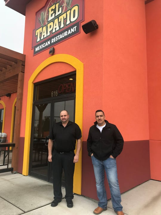 Mario Saltero (left) and Moses Mora are owners at El Tapatio in Brandon.