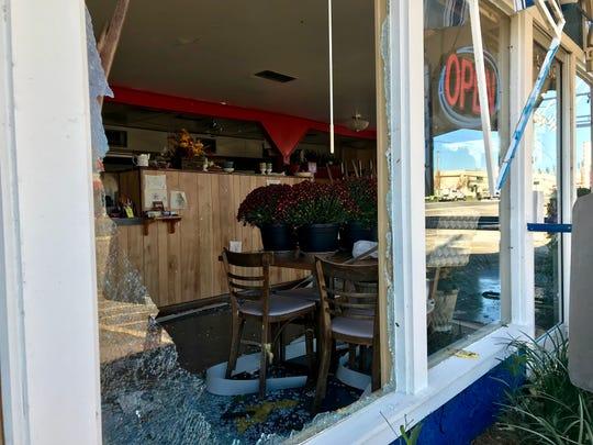 Hurricane Michael damaged numerous Marianna businesses, including The Waffle Iron.