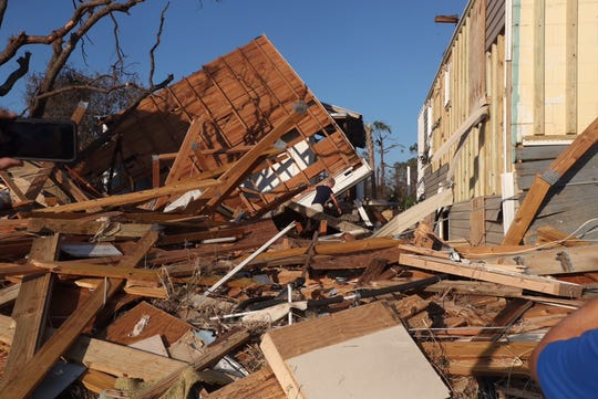 Devastation was everywhere in Mexico Beach after Hurricane Michael.