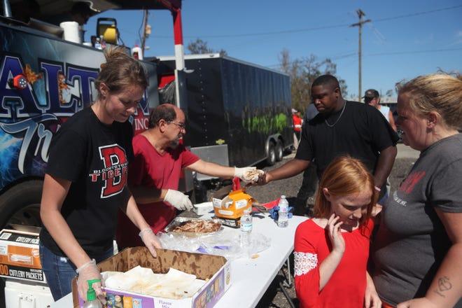 Feeding operations Friday in Blountstown.
