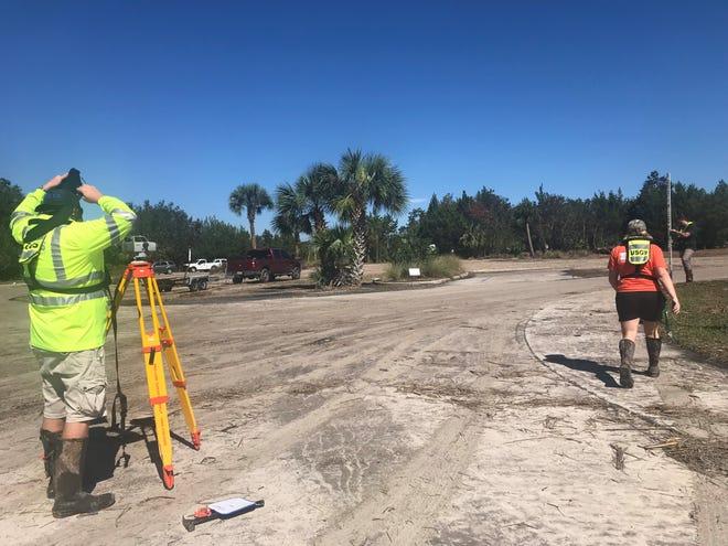 USGS Crews checking elevation levels