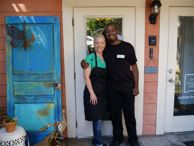Kevin Graham, right, and Jeri Madden, Operating Partner of Paisley Cafe.