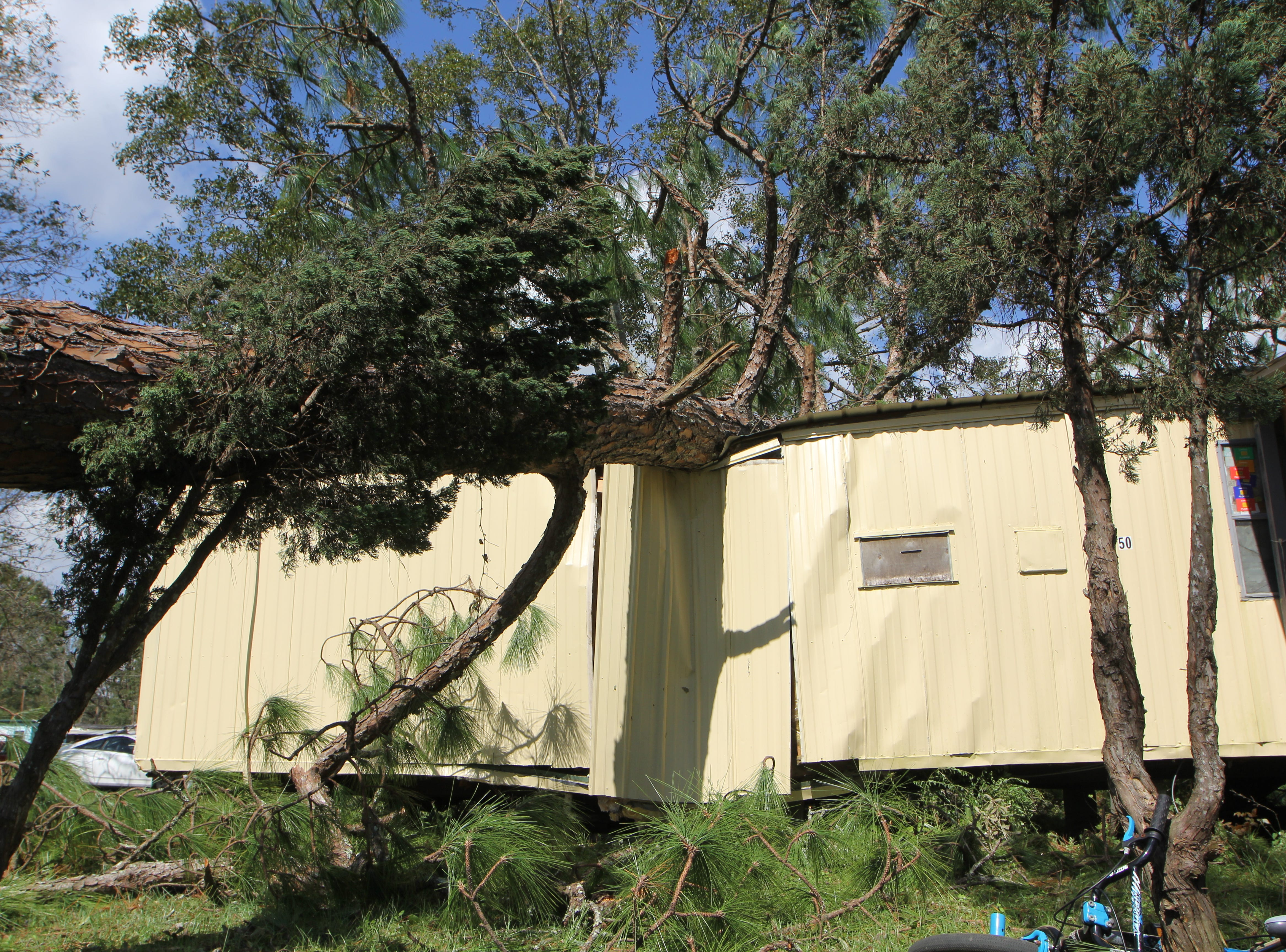 A Gadsden County mobile home pictured Thursday, Oct. 11, 2018 after Hurricane Michael.