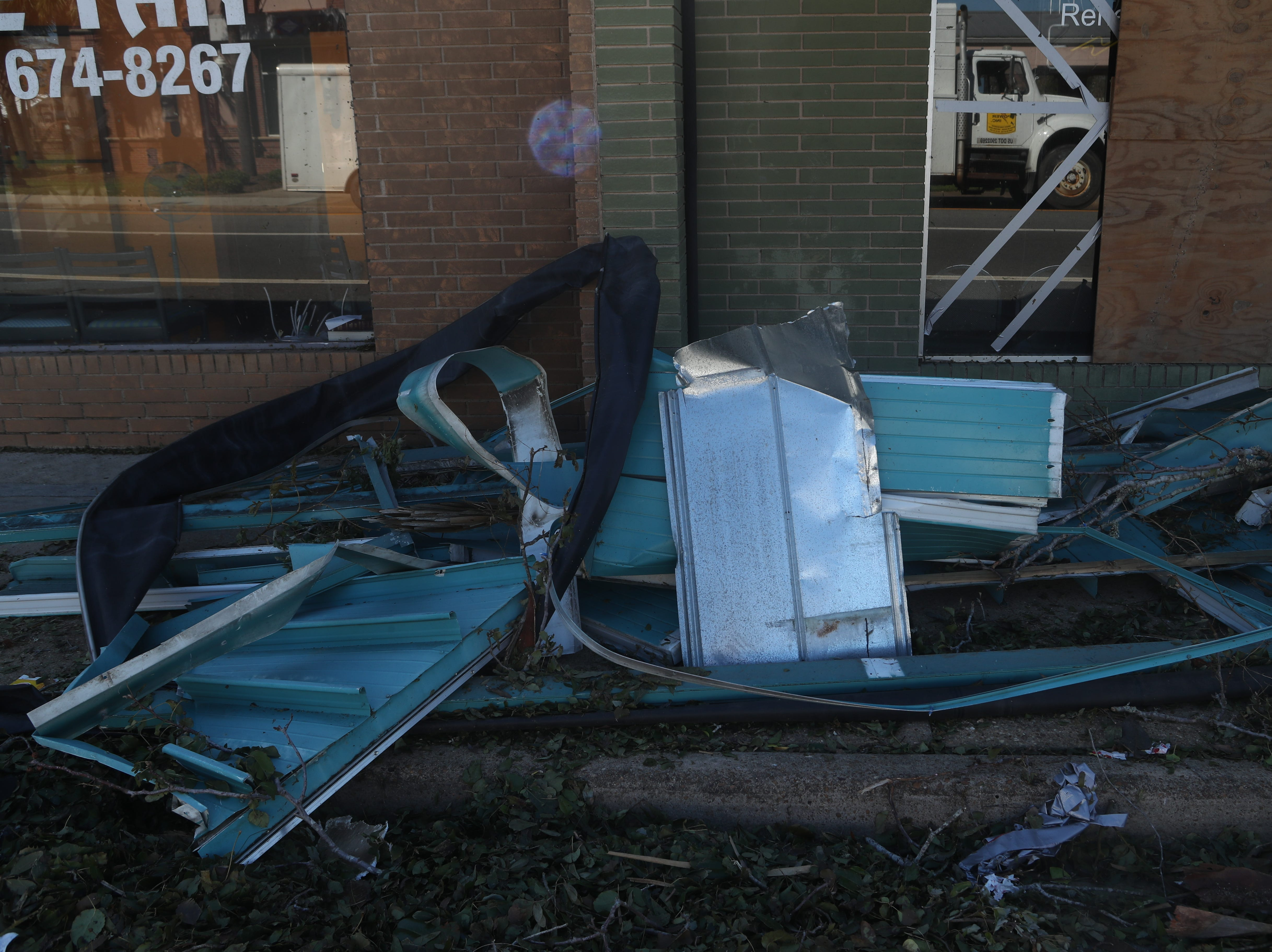 Damage is widespread in Blountstown, Fla. and the surrounding Calhoun County in the aftermath of Hurricane Michael Friday, Oct. 12, 2018.
