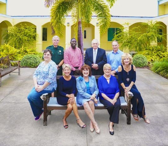 New Horizons Board of Directors, from left, seated, Laura Murray, Diamond Litty, Kathryn Hensley, Pat Austin and Mary Baysinger; standing, Garry Wilson, Kim Johnson, John Romano and Greg Pickett. Missing are Nick Brown, Greg Childress and Debbie Clemons.