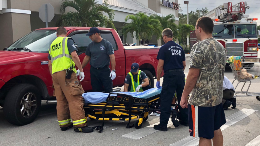 Crash with pedestrian in Port St. Lucie sends one to trauma center