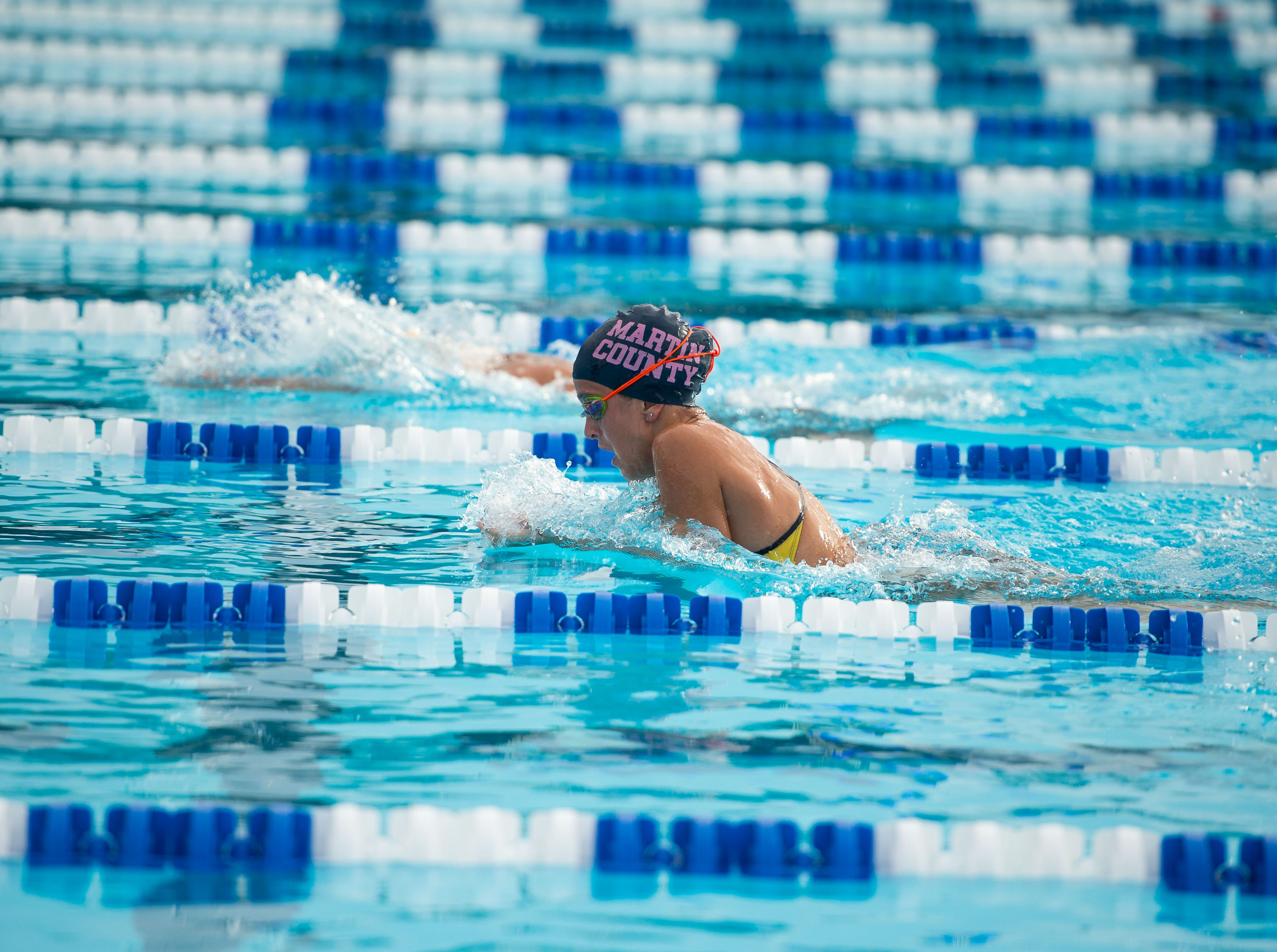 Martin County schools compete at the Martin County Championships high school swim and dive meet Thursday, Oct. 11, 2018, at Sailfish Splash in Stuart.