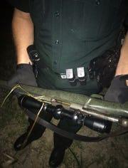 The rifle that was used to kill the buck, deputies said.