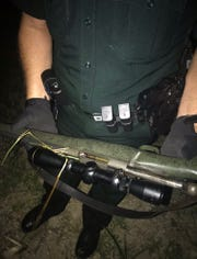The rifle that was used to kill the buck, deputies said.