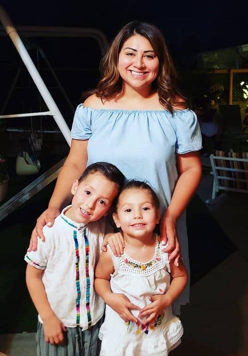 El Paso City Rep. Cassandra Hernandez and her children