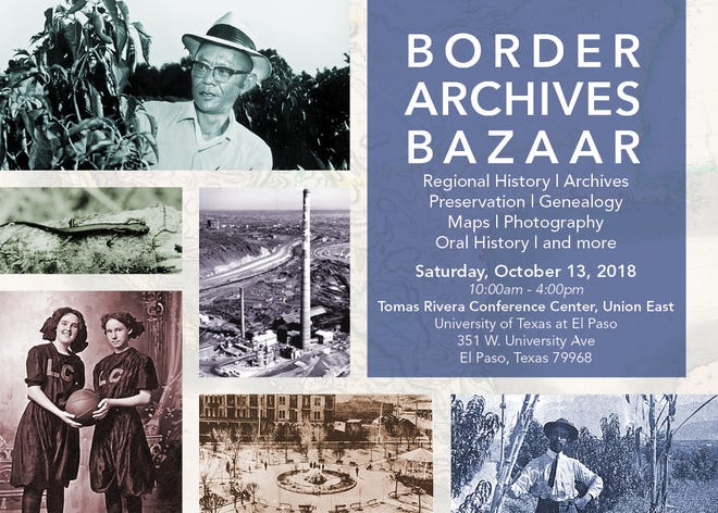 The Border Archives Bazaar will be from 10 a.m. to 4 p.m. Saturday.