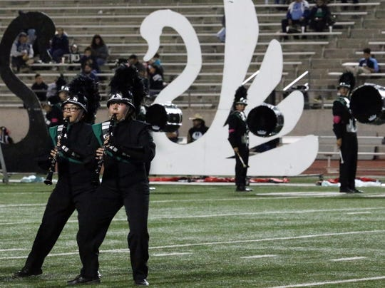 The Montwood High School band performed earlier this month during the school's football game against Coronado High School. This weekend, the Montwood band took part in the University Interscholastic League marching band competition.