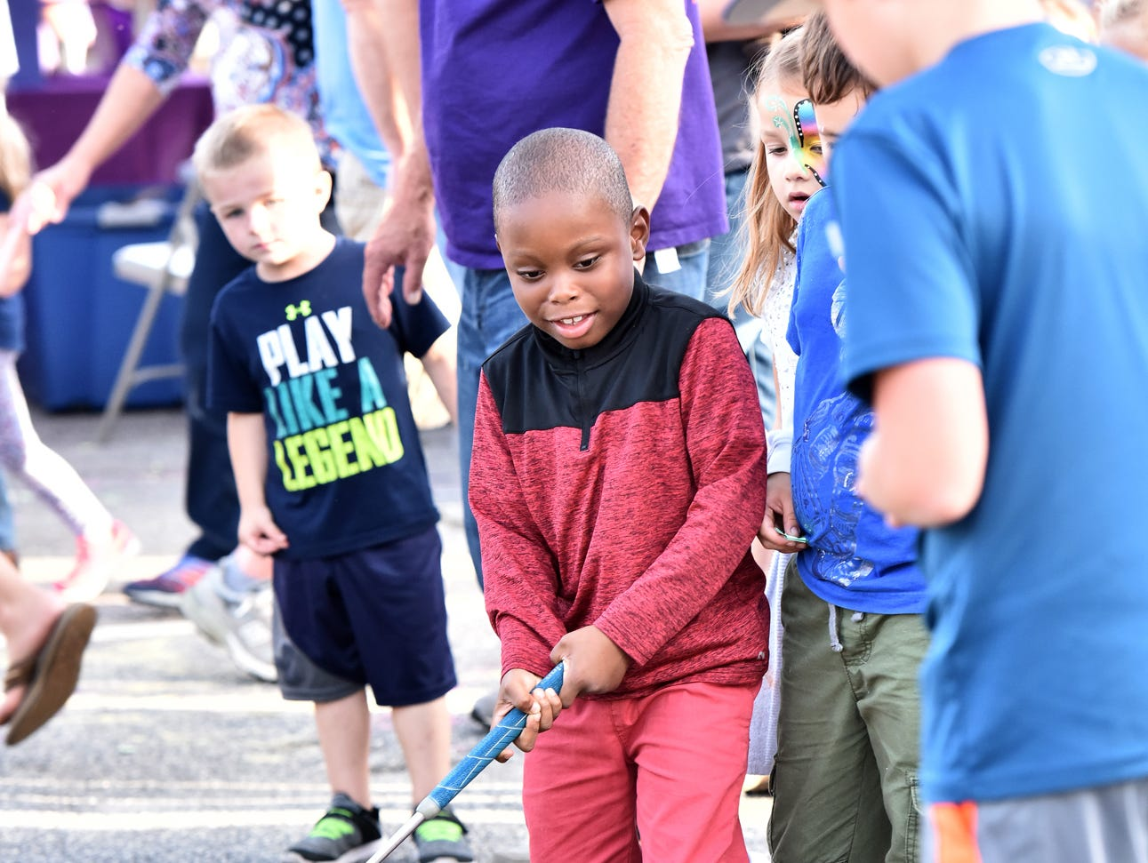 Bethel Elementary School held its annual Bethel Bash on Friday evening, October 12, 2018. Children played with Silly String, cracked confetti-filled eggs, rode on carnival rides and had their faces painted during the event.