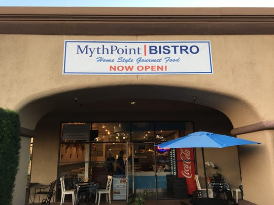 MythPoint Bistro is located in the North Ranch Mall at 3825 E. Thousand Oaks, Unit E, in Thousand Oaks.