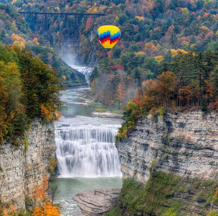 Fall leaf peeping ... from a helicopter, hot air balloon, and old-fashioned railway