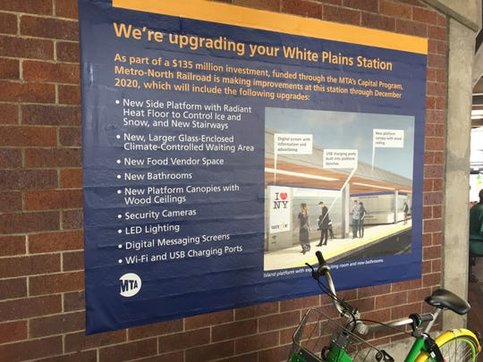 The White Plains Metro-North station is undergoing a $92 million renovation.