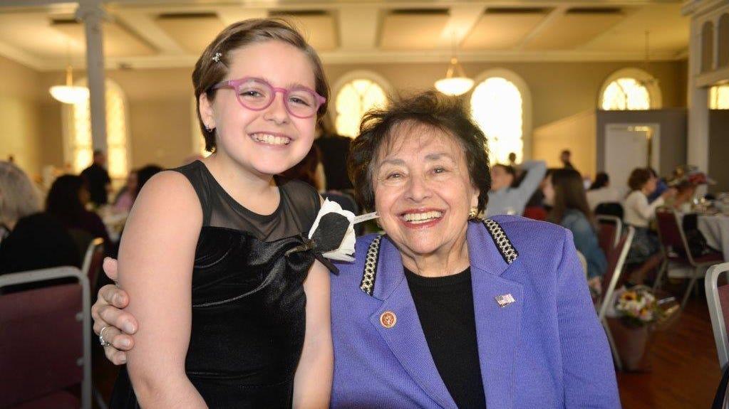 Josie Rothman with Congresswoman Nita Lowey