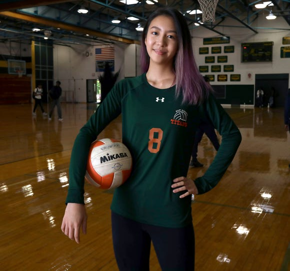 East Ramapo volleyball player Nicole Chan of Ramapo High School, Rockland scholar-athlete of the week Oct. 12, 2018.
