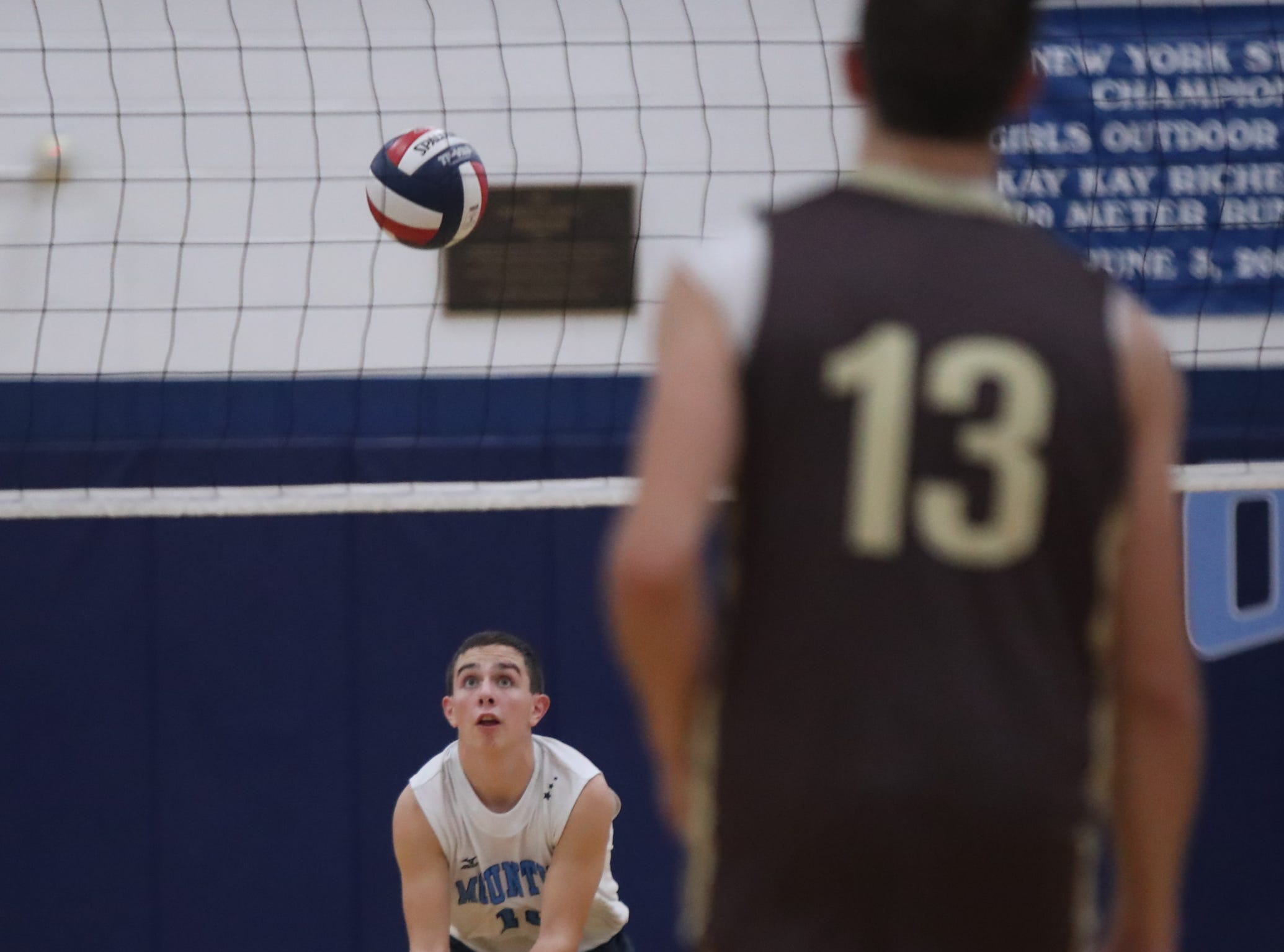 Suffern defeats Clarkstown South 3-1 in boys volleyball action at Suffern High School in Suffern on Thursday, October 11, 2018.