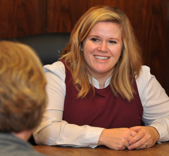 Catie Robinson, running for Wichita County Commissioner Precinct 4, met with the Times Record News editorial board. The mother and military spouse faces incumbent Jeff Watts for the position, which represents the Electra area of Wichita County.