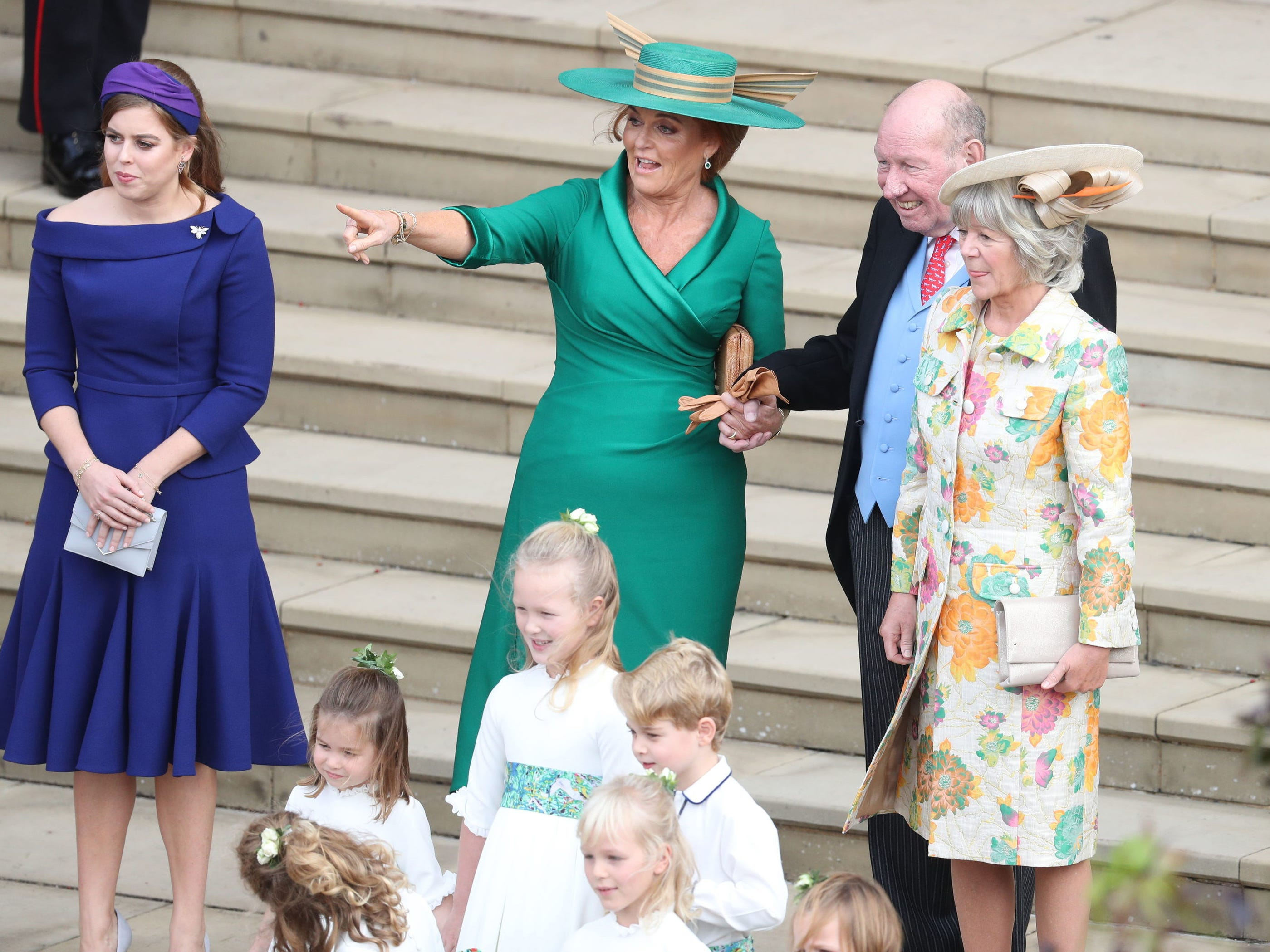 Princess Beatrice of York, Sarah Ferguson, George Brooksbank and Nicola Brooksbank.