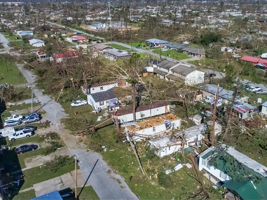 Drone photos of Damage caused by Hurricane Michael in Panama City, FL. Friday, Oct. 12, 2018. (Via OlyDrop)