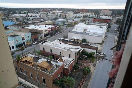 Hurricane michael damaged panama city hospital evacuating for Bay motors panama city florida