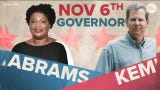 Democrat Stacy Abrams' campaign team says Brian Kemp should resign as Secretary of State amid allegations he's blocking thousands of voter registrations. Kemp's team said applicants can still vote if they verify their information at the polls.