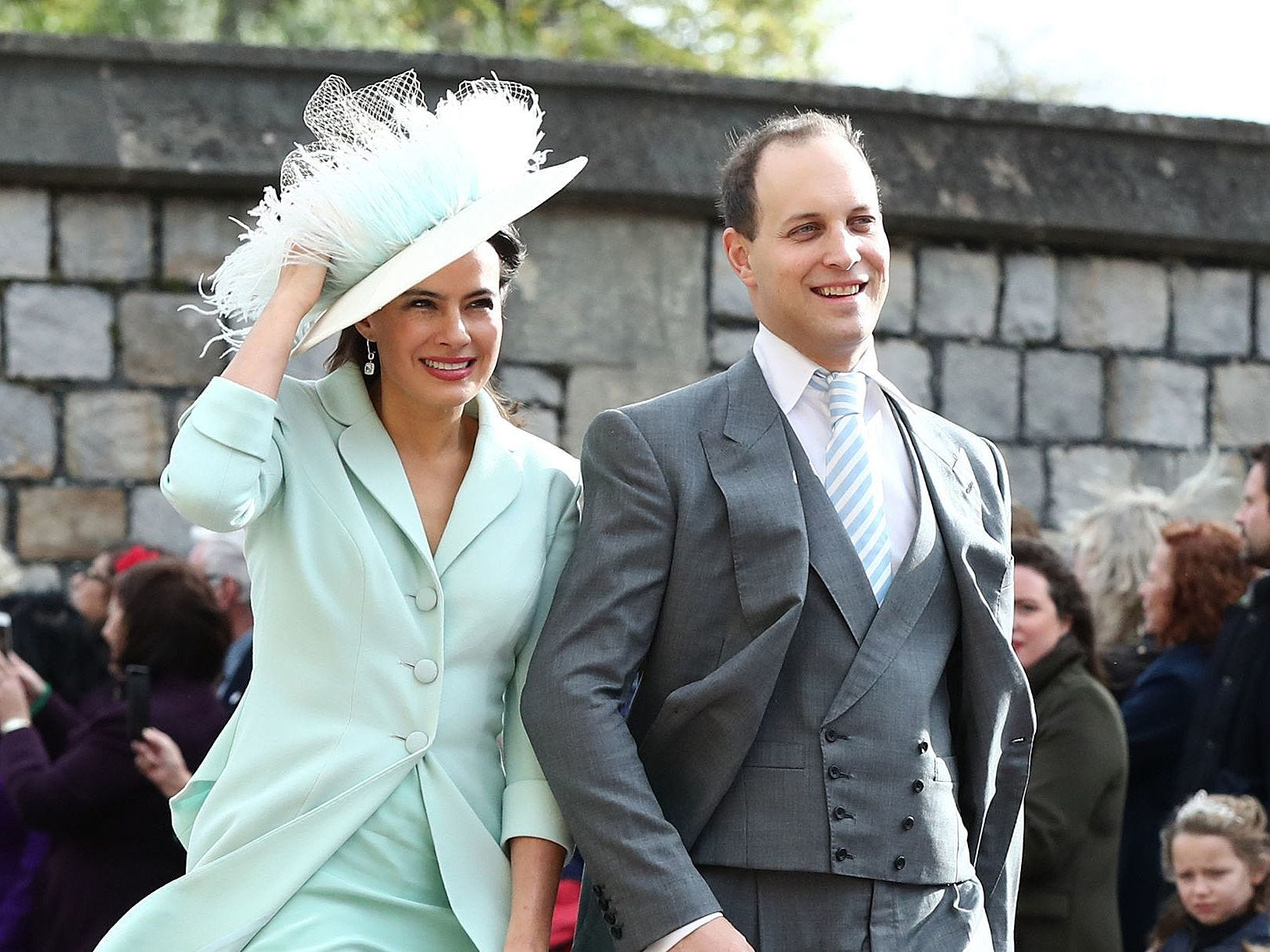 Britain's Lord Frederick Windsor and Britain's Lady Frederick Windsor.