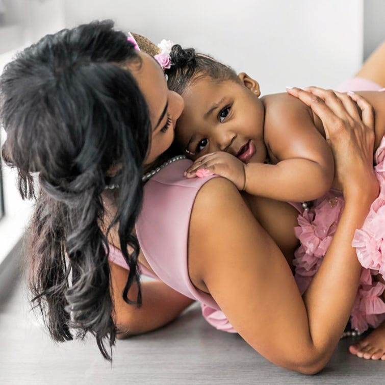 Briana Williams made headlines when she graduated Harvard Law as a single mother. Now a lawyer in Los Angeles, her biggest hurdle is mom guilt. She's pictured here with daughter, Evelyn.