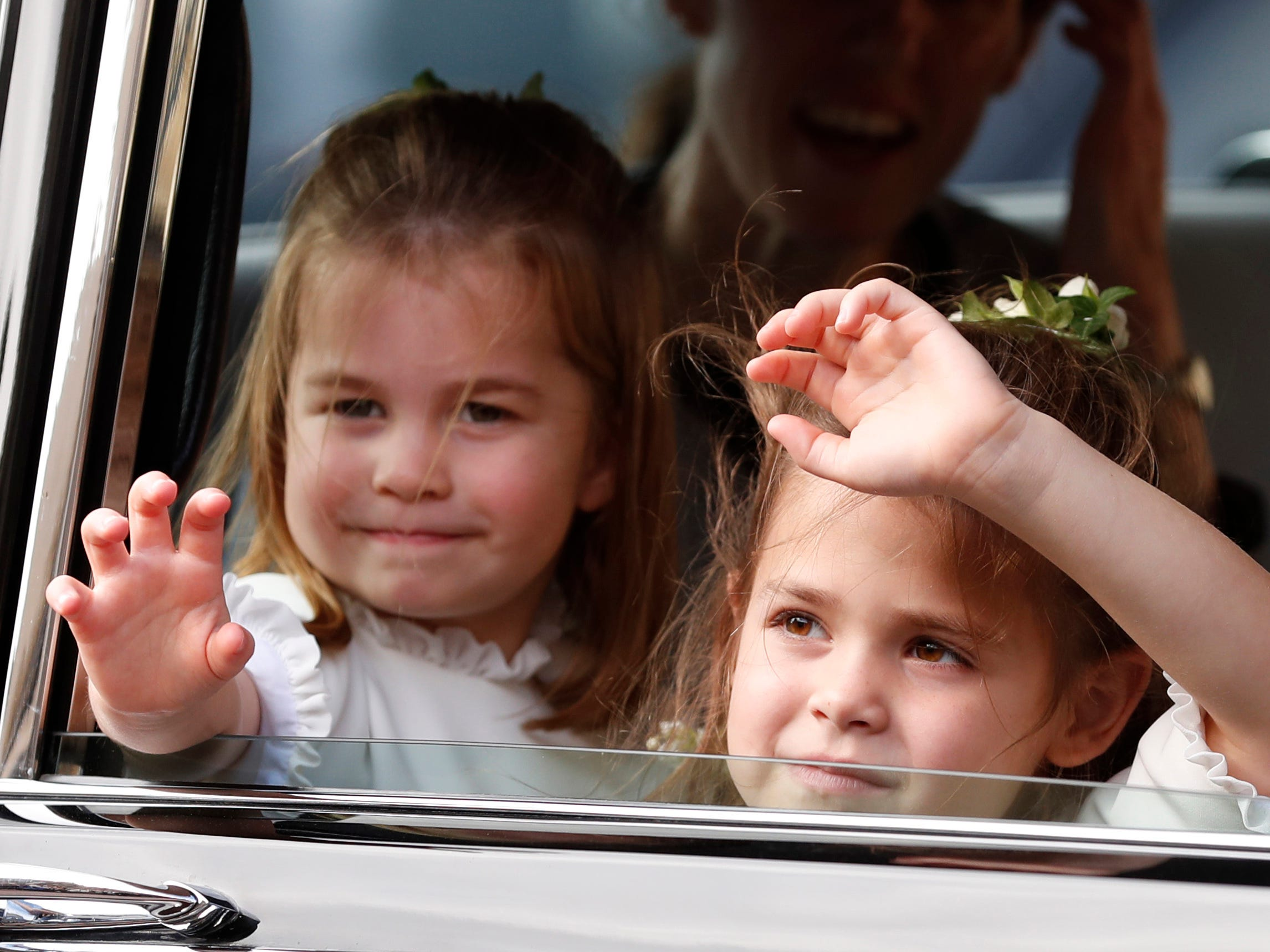 Flower Girls Princess Charlotte and Theodora Williams.