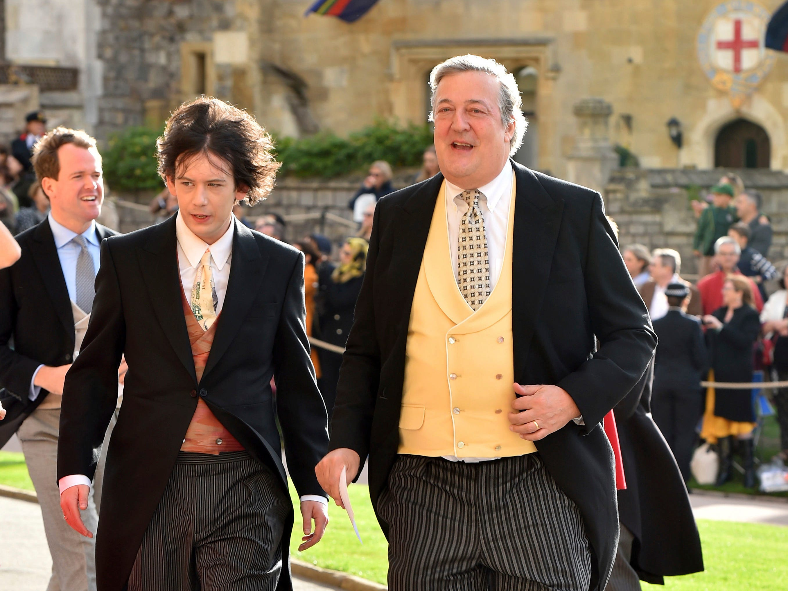 Elliott Spencer and actor Stephen Fry.