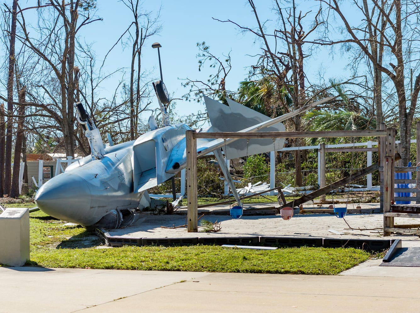 Damage cause by Hurricane Michael in Panama City, FL. Friday.