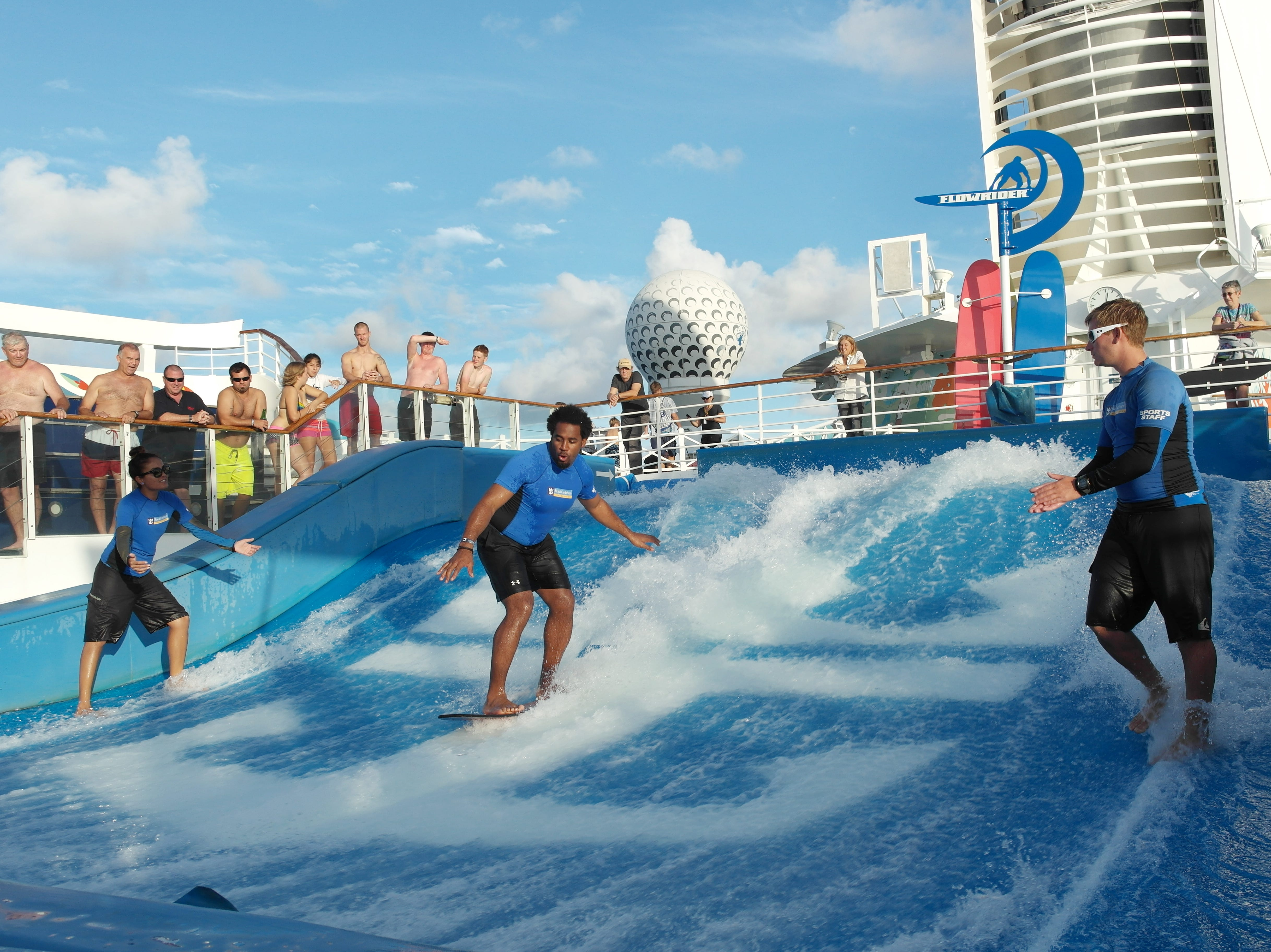 Royal Caribbean has made waves in recent years with the debut of FlowRider surfing pools on its ships.