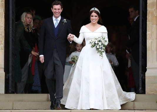 Royal Wedding Party.Princess Eugenie Marries Jack Brooksbank At Royal Wedding In Windsor