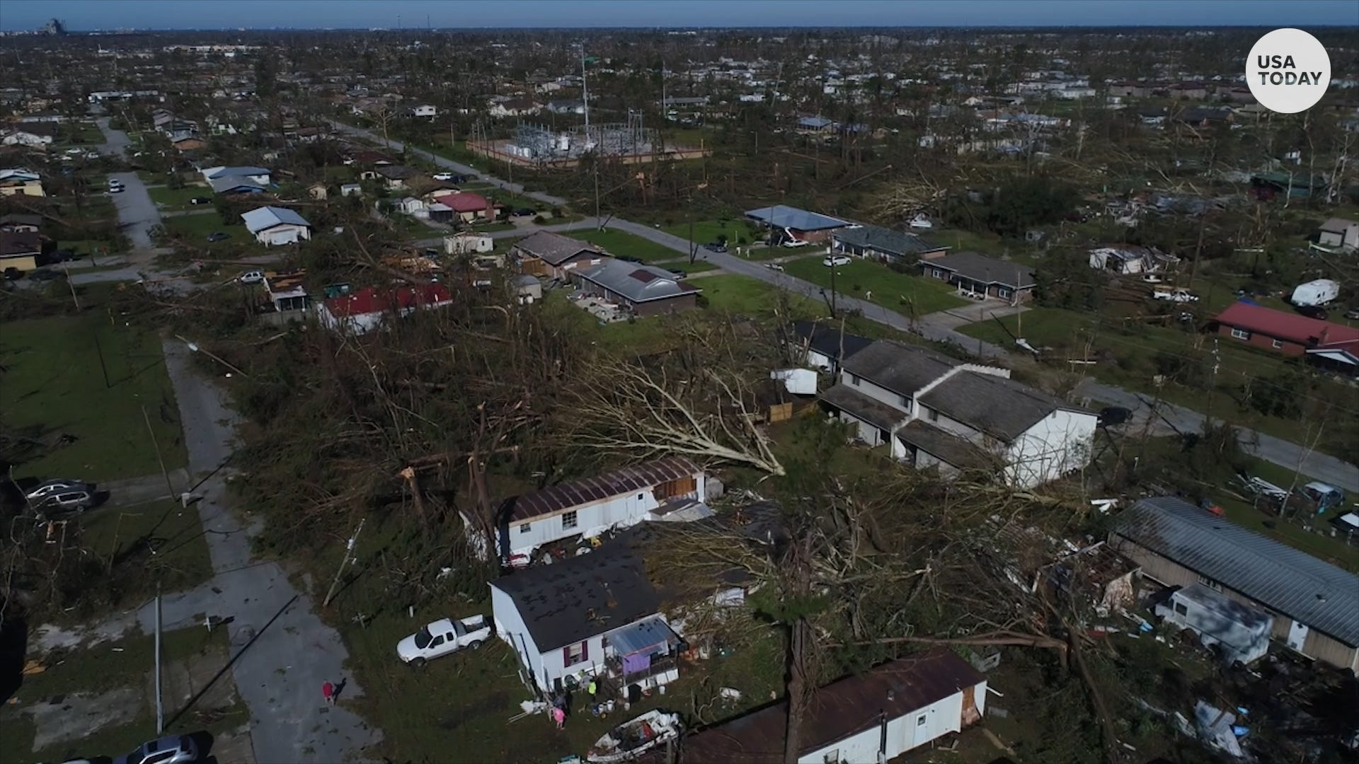 Hurricane Michael: Drone video shows extensive damage caused