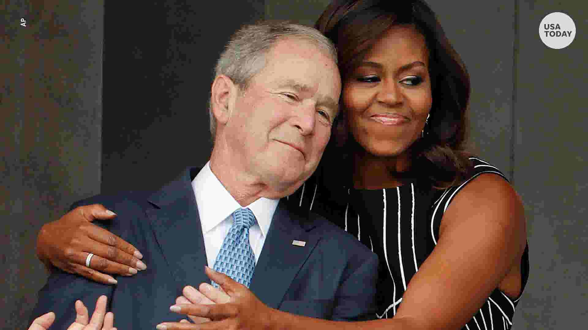 Michelle Obama George W Bush Is My Partner In Crime