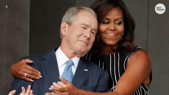 George W. Bush playfully photobombed Jenna Bush Hager and Barbara Bush after wedding